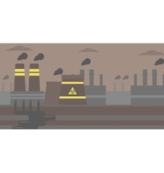 Background nuclear power plant vector