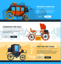 banners with carriage pictures horizontal banners vector image