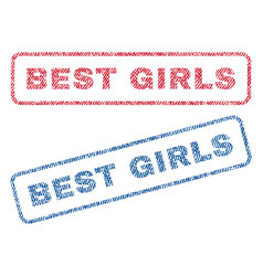 Best girls textile stamps vector