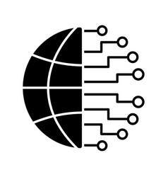 Big data glyph icon vector