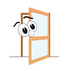 big eye and open door art vector image