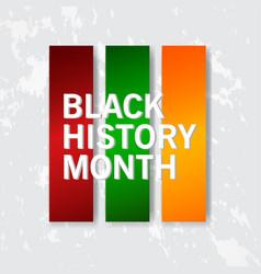 black history month design for banner print vector image