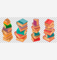 book stacks on transparent background vector image