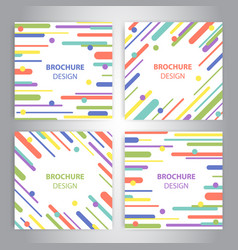 Brochure covers with flat geometric pattern vector
