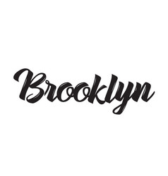 Brooklyn text design calligraphy vector