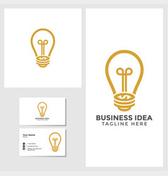 business idea logo template with card vector image