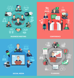 Business meeting design concept vector