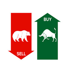 Buy or sell stock trend symbol stock market vector