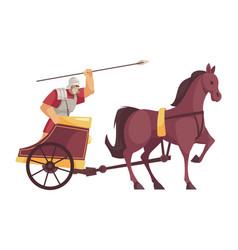 Cartoon gladiator icon vector