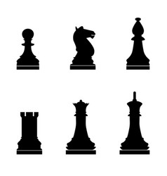 chess pieces the black color icon vector image