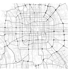 City map of beijing in black and white vector