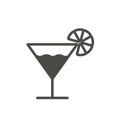 cocktail icon glass drink symbol trendy f vector image