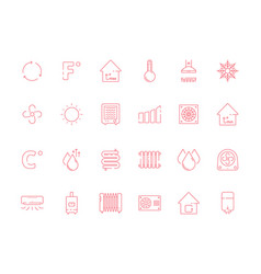 Cooling heating symbols cool sun conditioning vector