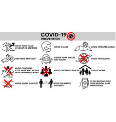 covid19-19 infographic prevention coronavirus vector image