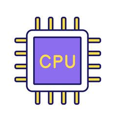 Cpu color icon vector