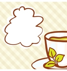 Cup background vector