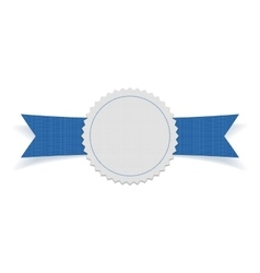 Festive Label on blue Ribbon vector
