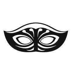 Festive mask icon simple style vector