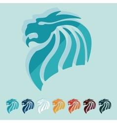 Flat design chinese dragon vector image