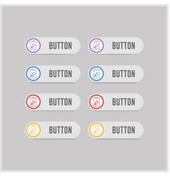 flat design pencil icon vector image