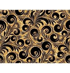 floral golden wallpaper vector image