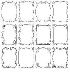 frames design elements Editable file vector image