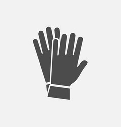 glove icon isolated on white background vector image