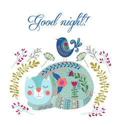 good night art colorful with vector image