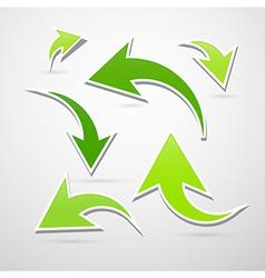 Green Abstract Arrows Set vector image