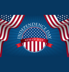 greeting card happy independence day 4th july vector image