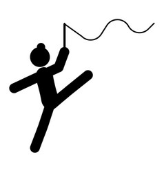 gymnastics glyph icon vector image