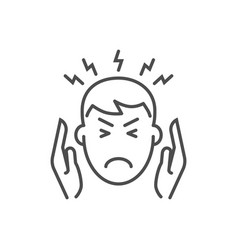 headache related thin line icon vector image