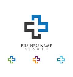 Health medical logo template vector