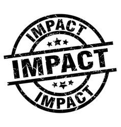 Impact round grunge black stamp vector