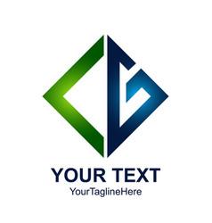 Initial letter cg logo design template element vector