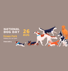 invitation celebrating national dog day 26 august vector image