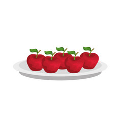 Isolated apples fruit design vector