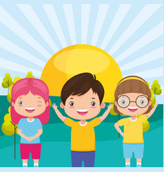 kids zone image vector image
