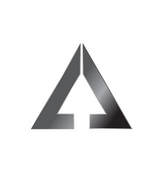 Letter a with arrow up vector