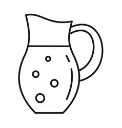 milk in jug in line style isolated vector image