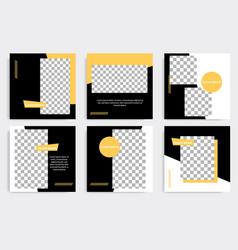 Minimal square geometric banner template vector