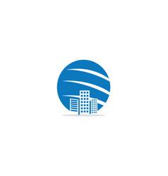 modern building cityscape company logo vector image