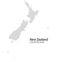 New zealand map shape icon zealand vector