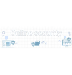 online security word on squared background vector image