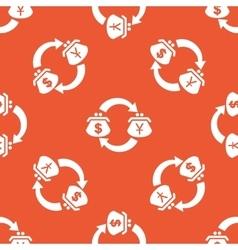 Orange dollar yen exchange pattern vector image