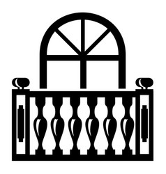 panoramic balcony icon simple style vector image vector image