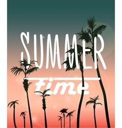 Paradise Island-Palm Tree Sunset vector image