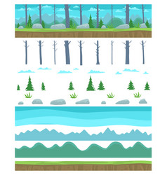 Parallax ready game background layers landscape vector