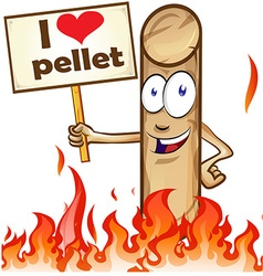 Pellet cartoon vector