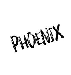 Phoenix rubber stamp vector